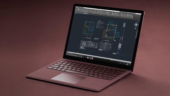 Microsoft Surface Laptop i7-7660U (16GB, 512GB SSD) (Zakelijke versie) Bordeauxrood