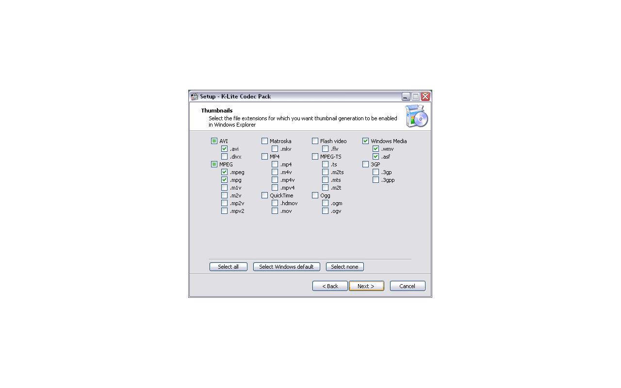 K-Lite Codec Pack 7.00 screenshot