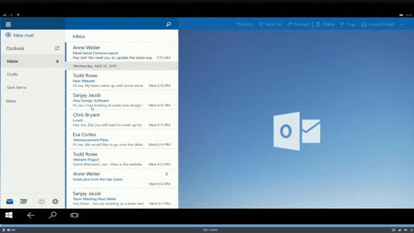 Microsoft laat desktopversie windows 10 op smartphones draaien