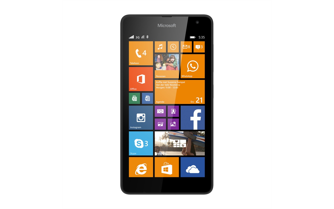Microsoft Lumia 535 Zwart T Mobile Prepaid