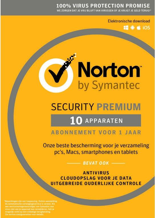 Symantec Norton SECURITY PREMIUM 3.0 25GB NL 1 US