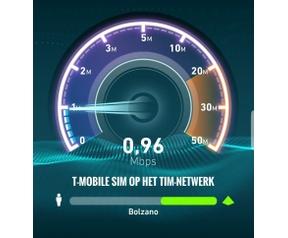 Datasnelheid T-Mobile Italie 2017