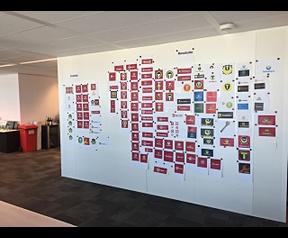 Logo's op muur