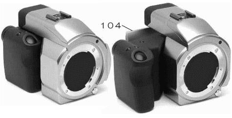 Panasonic patent uitschuifbare grip video dslr