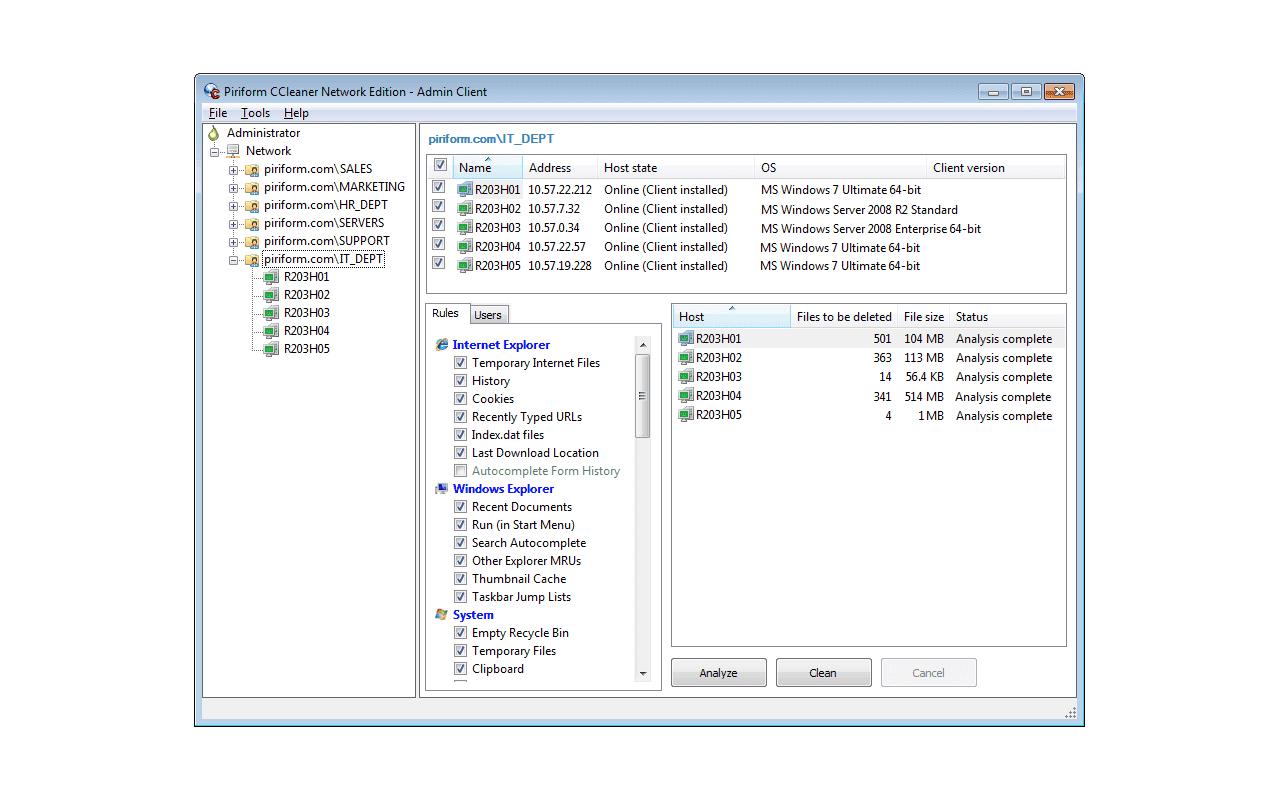 CCleaner Network Professional screenshot