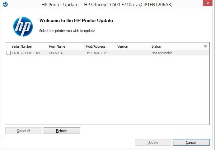 hp firmware update