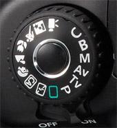 Canon EOS 60D modusdial