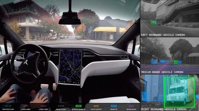Tesla Autopilot interieur