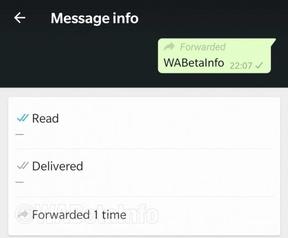WhatsApp forward count