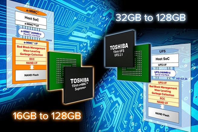Toshiba emmc en ufs