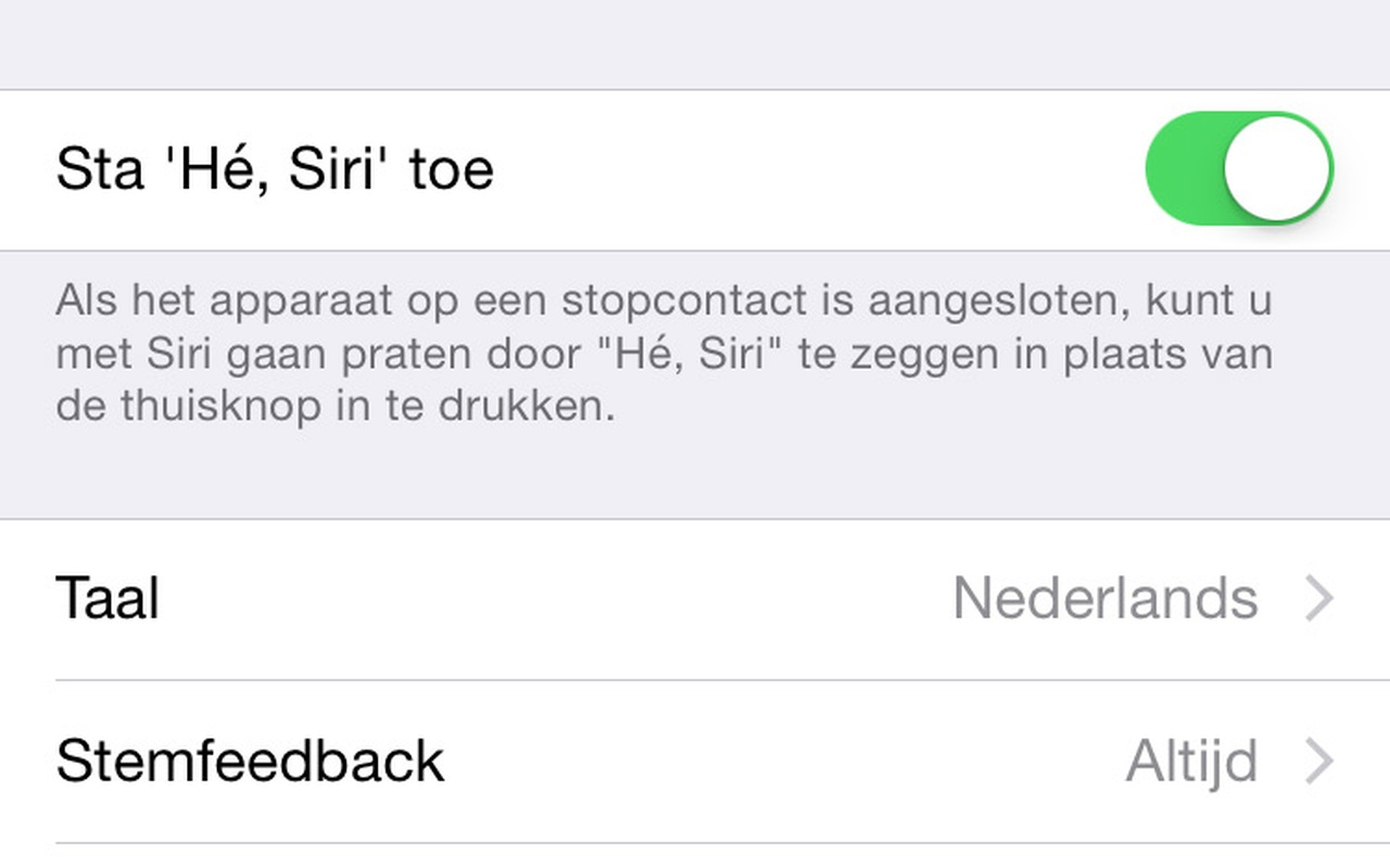 Apple iOS Siri Nederlands