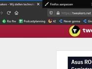 Firefox: compacte modus, normale modus en touch-modus
