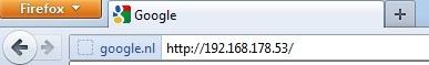 Vul het ip-adres van de camera in de adresbalk van de browser in