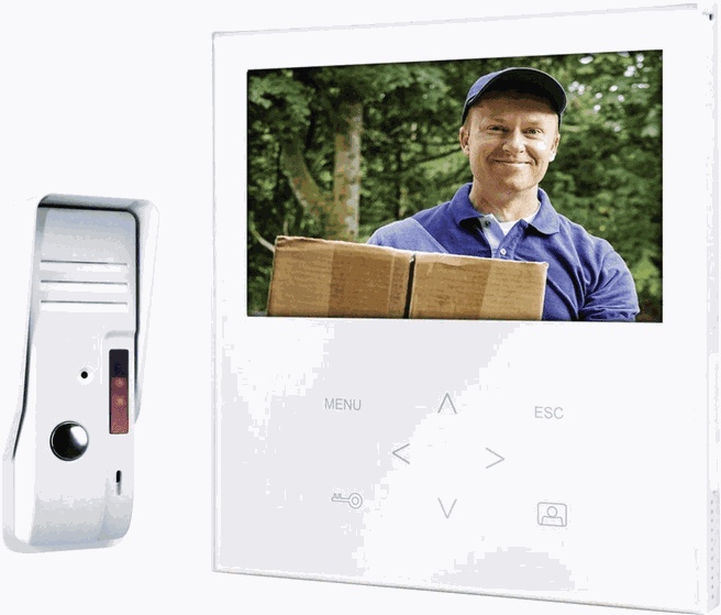 Smartwares VD71 SW Video-deurintercom Kabelgebonden Complete set 1 gezinswoning Wit