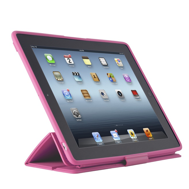 Speck PixelSkin HD Wrap voor iPad (2012) (Bubblegum)