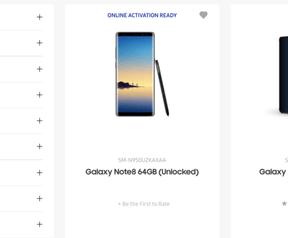 Samsung Galaxy Note 8 website