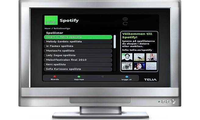 Spotify op tv