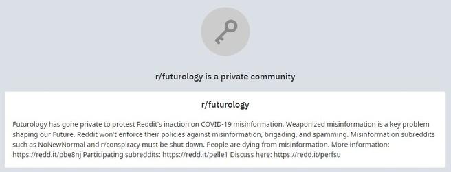 Reddit Futurology op zwart