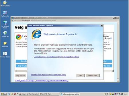 Een fout in het browserkeuzescherm?