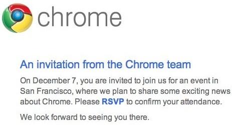 Google Chrome evenement uitnodiging