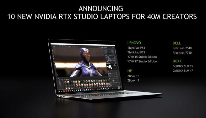 RTX Studio-laptops