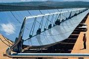 Parabolic trough zonne-energiesysteem