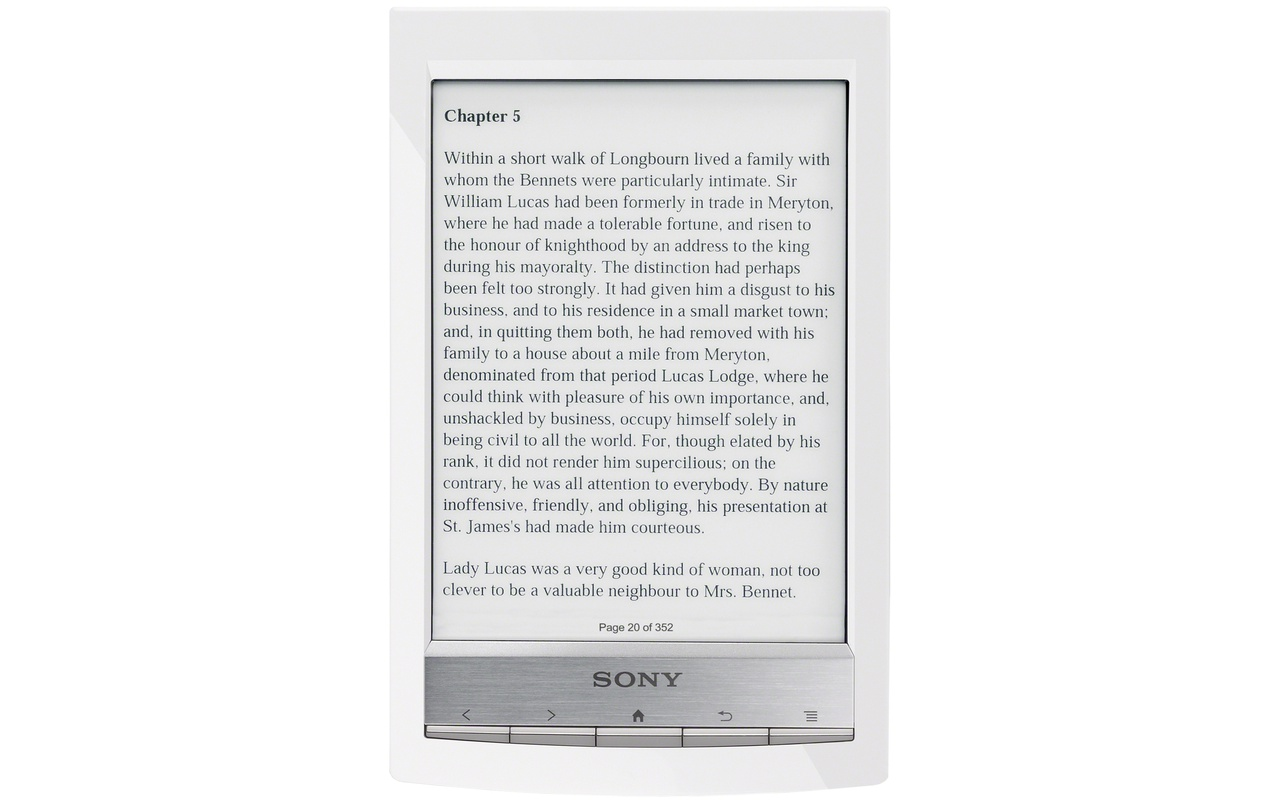"Sony Reader Touch Edition PRS-T1 (Wit 6"")"