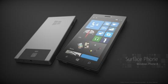 Conceptafbeelding van Surface Phones van Microsoft