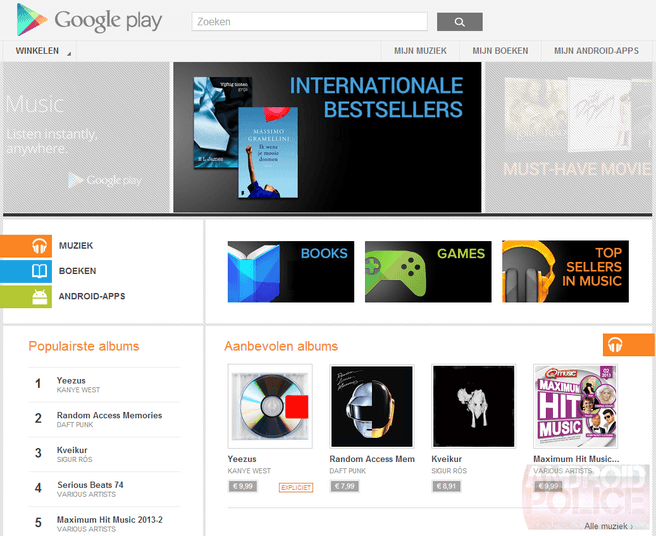 Google Play Books Belgie