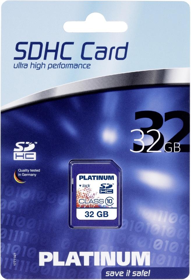 Platinum SDHC 32GB Class 10
