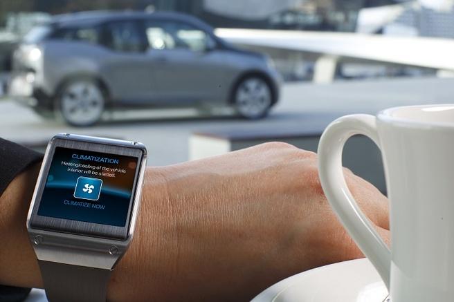 i remote-app voor BMW i3 op Samsung Galaxy Gear