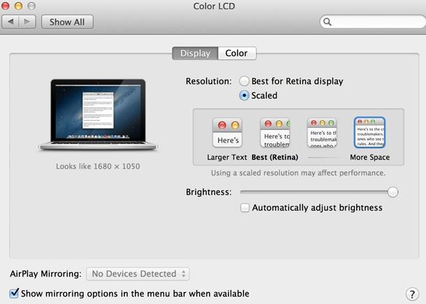 "Apple MacBook Pro Retina 13"" scale"