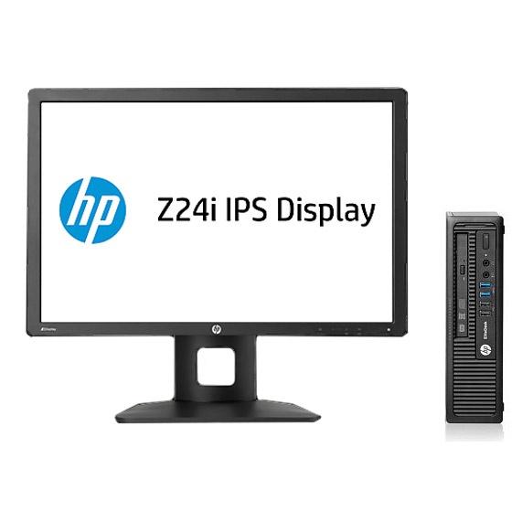 HP EliteDesk 800 G1 Ultra Slim (H5T98ET+D7P53AT) + Z24i Monitor