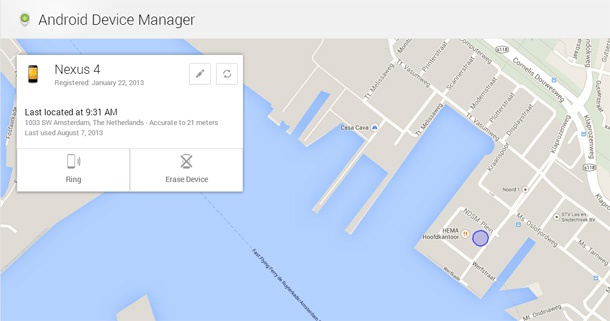Nexus 7 Android Device Manager