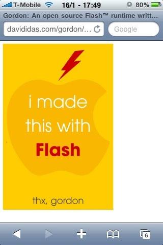 Flash op iPhone