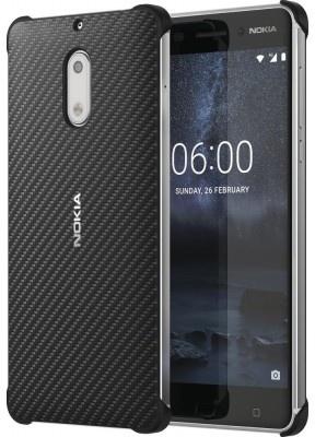 Nokia 6 Carbon Fibre Design Case Zwart