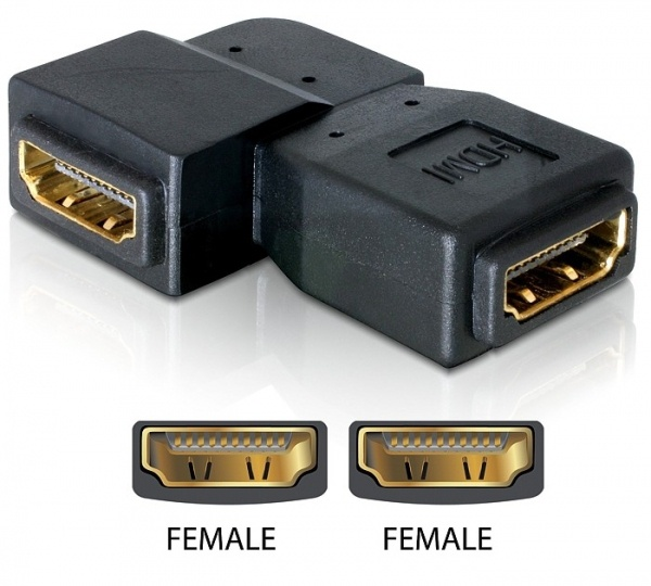 Delock Adapter HDMI female > HDMI female 90° right
