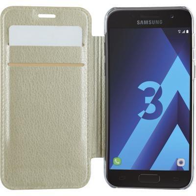 Guess IriDescent Book Case - Samsung Galaxy A3 (2017) - Goud Goud