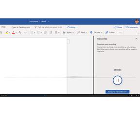 Microsoft Word Transcribe