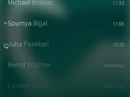 Jolla C met Sailfish OS screenshot