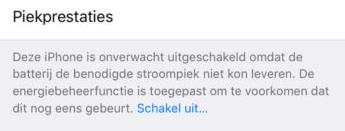 iOS 11.3 batterij