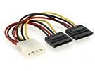 Gembird Molex to 2x Serial ATA power cable