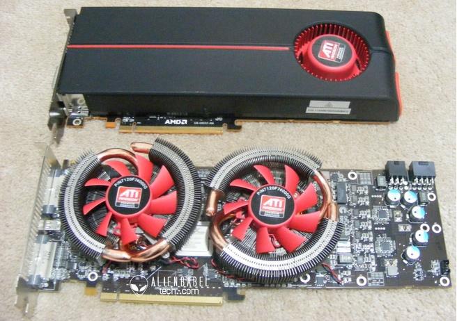 HD 5870 boven / HD 5970 onder