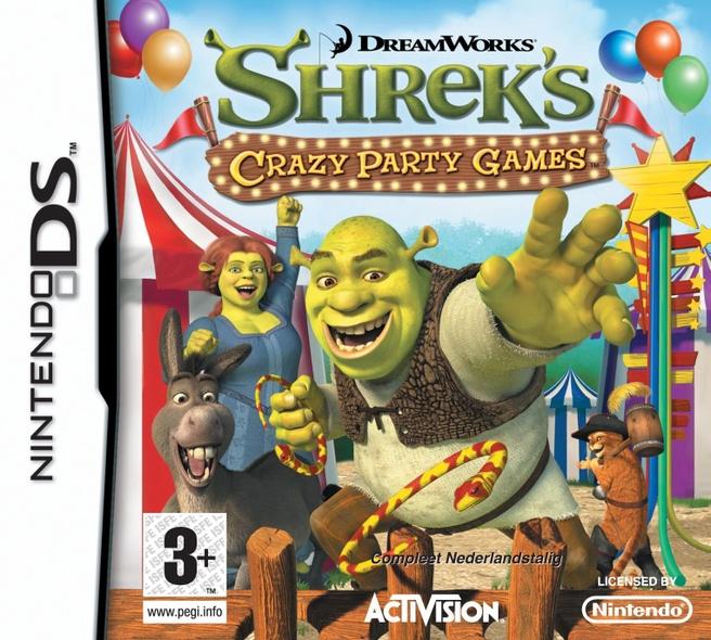 Shrek - Crazy Kermis - Party Games  NDS, Nintendo DS