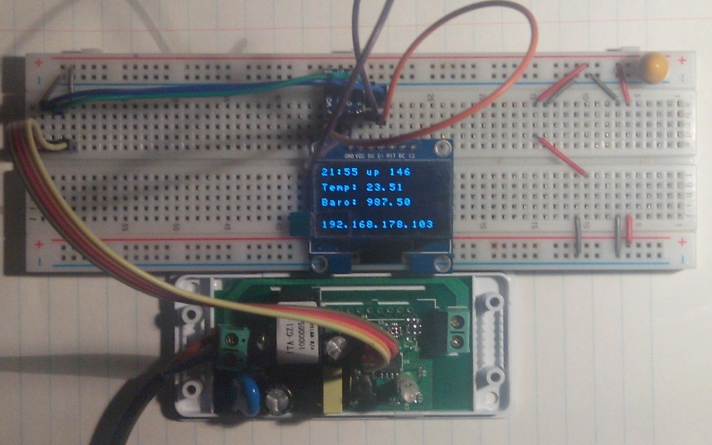 sonoff with I2C