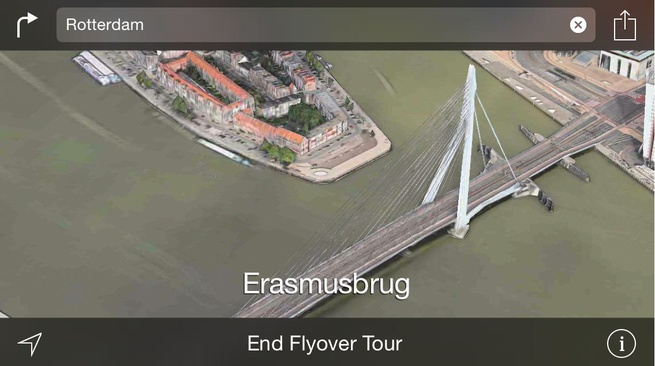 Apple Maps flyover 3d Rotterdam