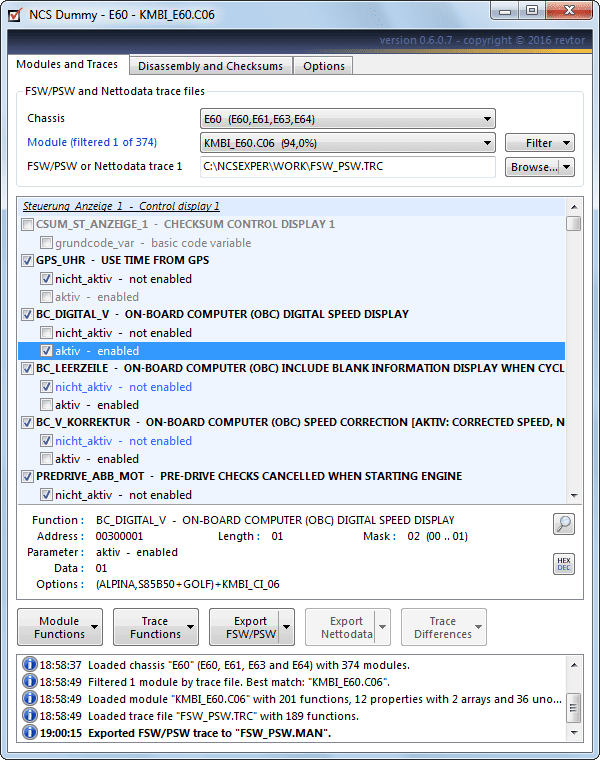 how to open trace file with ncs dummy