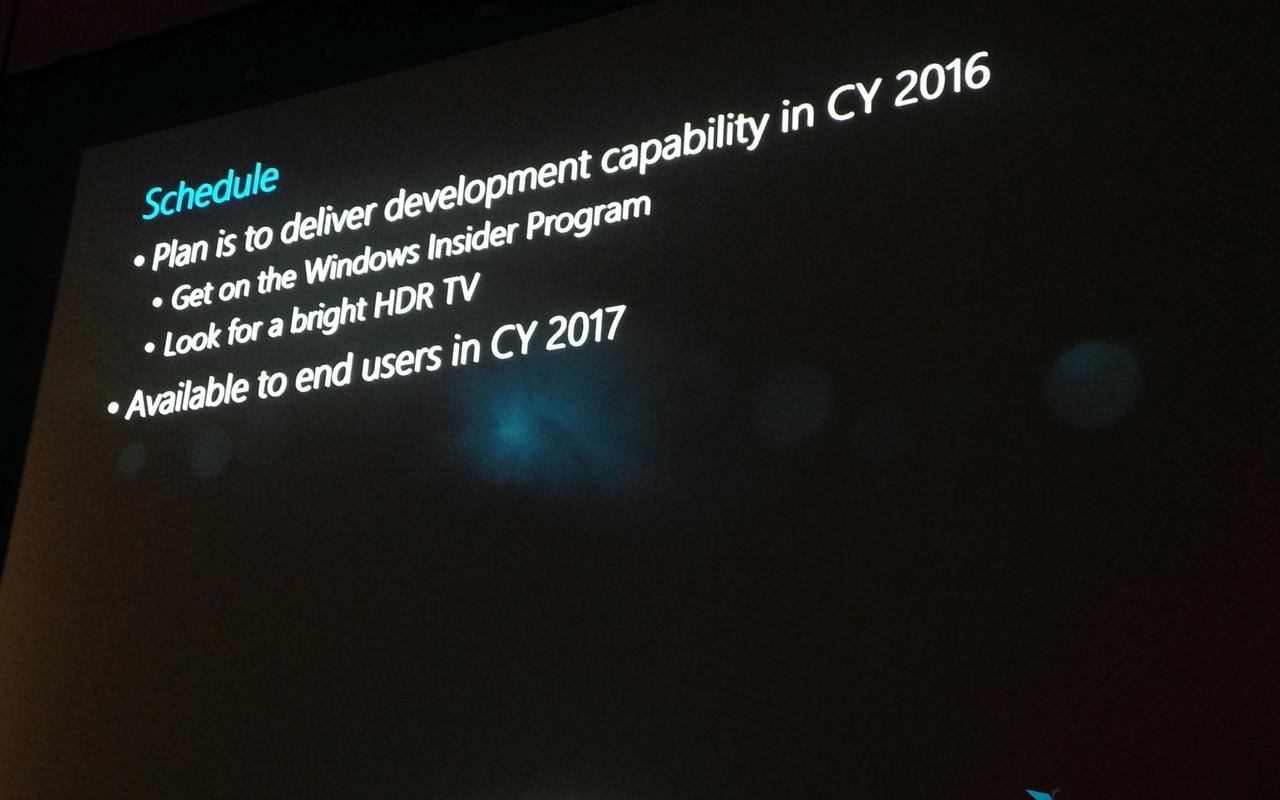 Microsoft DX12 Windows GDC HDR