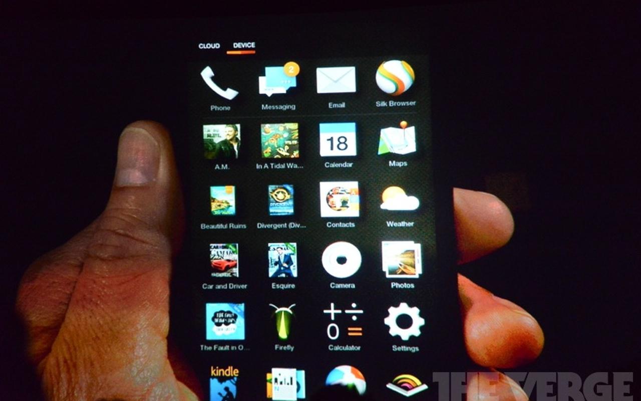 Amazon Fire Phone (bron: The Verge)