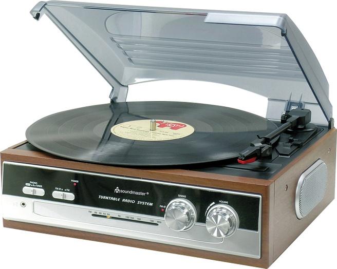 Soundmaster PL186H Platenspeler / Radio